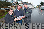 SOS: Noel O'Shea (Vice Chairman of Sneem/Castlecove/Caherdaniel IRD), Michael Donnelly (chairman of Coiste Pobal Caher Domhnall) and John Joe Leary (Sneem/Castlecove/Caherdaniel IRD and Coiste Pobal Caher Domhnall) who are worried at delays in providing a sewerage scheme for Caherdaniel.   Copyright Kerry's Eye 2008
