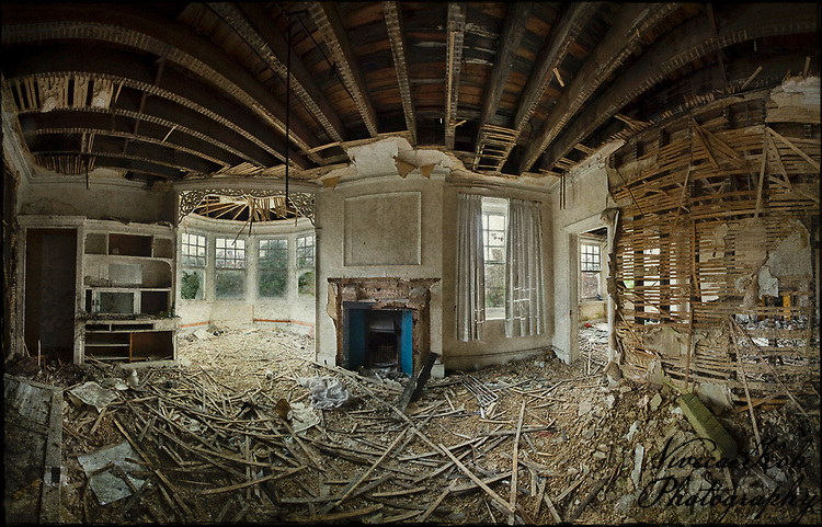 Interior Of Abandoned House With Texture Layer Applied
