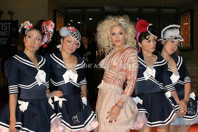 WWW.ACEPIXS.COM . . . . .  ... . . . . US SALES ONLY . . . . .....LONDON, FEBRUARY 9, 2005....Gwen Stefani at the 25th Brit Awards, Earls Court.....Please byline: FAMOUS - ACE PICTURES - F. DUVAL... . . . .  ....Ace Pictures, Inc:  ..Philip Vaughan (646) 769-0430..e-mail: info@acepixs.com..web: http://www.acepixs.com
