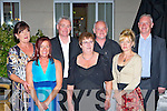 Liz Mahony, Mary Fortune, Gerard Buckley, Ray Buckley, Margaret Walsh, John Buckley and Carol O'Connor enjoying the Buckley family reunion in the Dromhall hotel Killarney Friday night..