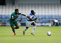 11th July 2020; The Kiyan Prince Foundation Stadium, London, England; English Championship Football, Queen Park Rangers versus Sheffield Wednesday;  Kadeem Harris of Sheffield Wednesday challenges Olamide Shodipo of Queens Park Rangers