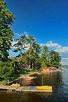 Cottages on Lake Muskoka, Bala, Ontario, Canada