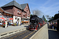 Bahnhof der Brockenbahn in Drei Annen-Hohne im Harz, Sachsen-Anhalt, Deutschland