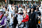 Participants dressed in costumes of Star Wars characters take part in a Halloween parade in Kawasaki, near Tokyo, on Sunday, October 25, 2015. (Photo by AFLO)