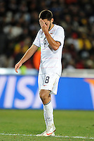 Clint Dempsey of USA looks dejected. Brazil defeated USA 3-2 in the FIFA Confederations Cup Final at Ellis Park Stadium in Johannesburg, South Africa on June 28, 2009.