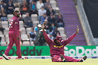 Chris Gayle (West Indies)  got a roar from the crowd when he fielded at point, and acknowledged accordingly during England vs West Indies, ICC World Cup Cricket at the Hampshire Bowl on 14th June 2019