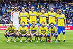 Solna 2014-06-01 Fotboll Landskamp , Sverige - Belgien :  <br /> Sveriges spelare i en laguppst&auml;llning innan matchen<br /> (Photo: Kenta J&ouml;nsson) Keywords:  Sweden Sverige Friends Arena Belgium Belgien lagbild