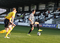Kenny McLean controls the ball in the St Mirren v Falkirk Clydesdale Bank Scottish Premier League Under 20 match played at St Mirren Park, Paisley on 30.4.13.