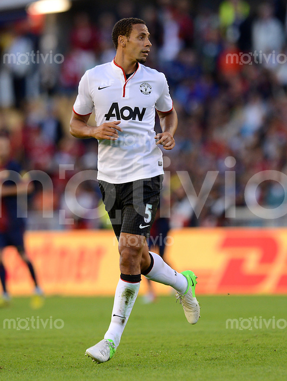 FUSSBALL  INTERNATIONAL Testspiel 2012/2013  08.08.2012 Manchester United  - FC Barcelona  Rio Ferdinand (Manchester United FC)
