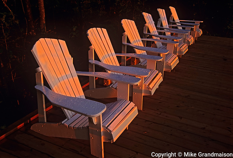 Muskoka chairs on Lake of the Woods<br />