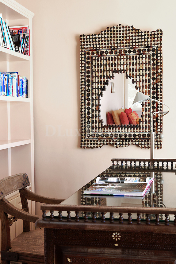 ethnic wooden table