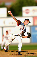 Bryan Price of the Lowell Spinners in action at LeLacheur Park in Lowell, MA, Sunday August 17, 2008. (Photo by Ken Babbitt / Four Seam Images)