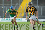 Kieran Dineen (Capt Abbeydorney) in action with John Buckley (Lixnaw) in the  Garvey's SuperValu Senior Hurling Championship 2014 Quarter Finals at Austin Stack Park, Tralee on Saturday.