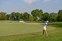 Danielle Kang (USA) hits her approach shot on 8 from the rough during round 4 of the 2018 KPMG Women's PGA Championship, Kemper Lakes Golf Club, at Kildeer, Illinois, USA. 7/1/2018.<br /> Picture: Golffile | Ken Murray<br /> <br /> All photo usage must carry mandatory copyright credit (&copy; Golffile | Ken Murray)