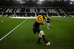Home club mascot Rammie the Ram having a kick around on the pitch before Derby County played Stoke City in an EFL Championship match at Pride Park Stadium. Opened in 1997, it is the 16th-largest football ground in England and the 20th-largest stadium in the United Kingdom. The fixture ended in a 0-0 draw watched by a crowd of 25,685.