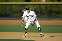 Wake Forest Demon Deacons first baseman Cole McNamee (40) on defense against the North Carolina State Wolfpack at David F. Couch Ballpark on April 18, 2019 in  Winston-Salem, North Carolina. The Demon Deacons defeated the Wolfpack 7-3. (Brian Westerholt/Four Seam Images)