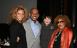"""Michele Hurd - Linda Dano (both were on Another World & Linda on ABC soaps) - Roberta Flack (sang on OLTL)- Montel Williams is host of this event and """"Clayton Boudreau"""" and on AMC pose at the First Annual StarPet 2008 Awards Luncheon as dogs and cats compete for a career in showbusiness on November 10, 2008 at the Edison Ballroom, New York, New York. The event benefitted Bideawee and NY SAVE. Michelle and Roberta are judges today. (Photo by Sue Coflin/Max Photos)"""