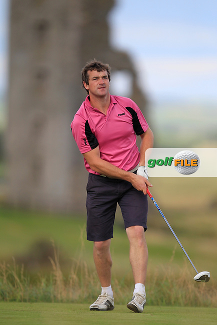 William Hanna (Kilkeel/Warrenpoint) on the 13th tee during the South of Ireland Amateur Open Championship Second Round at Lahinch Golf Club  28th July 2013 <br /> Picture:  Thos Caffrey / www.golffile.ie