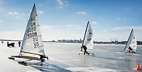 """""""Gentlemen, Start Your Ice Boats""""  Lake Monona  Madison, Wisconsin 