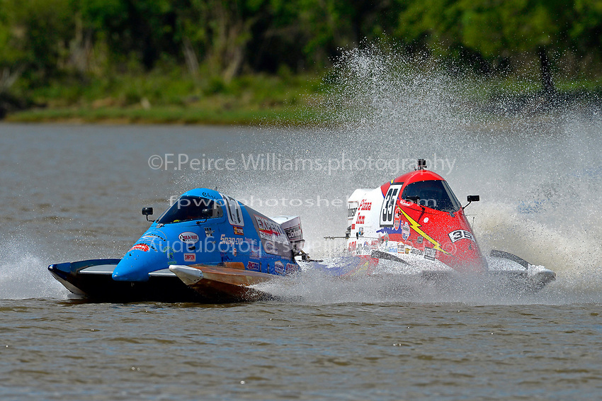 Frame 6: Chris Hughes, (#17) and Mark Schmerbach, (#35) come together in the first turn.    (SST-45 class)