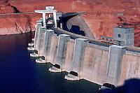 Glen Canyon Dam on the Colorado River, Arizona