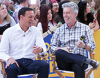 NEW YORK, NY-August 29: Ryan Lochte, Tom Bergeron at Good Morning America to talk about new season of Dancing with the Stars in New York. August 29, 2016. Credit:RW/MediaPunch