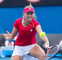 EKATERINA MAKAROVA (RUS) against VERA ZVONEREVA (RUS) in the third round of the Women's Singles. Ekaterina Makarova beat Vera Zvonereva 7-6 6-1..21/01/2012, 21st January 2012, 21.01.2012..The Australian Open, Melbourne Park, Melbourne,Victoria, Australia.@AMN IMAGES, Frey, Advantage Media Network, 30, Cleveland Street, London, W1T 4JD .Tel - +44 208 947 0100..email - mfrey@advantagemedianet.com..www.amnimages.photoshelter.com.