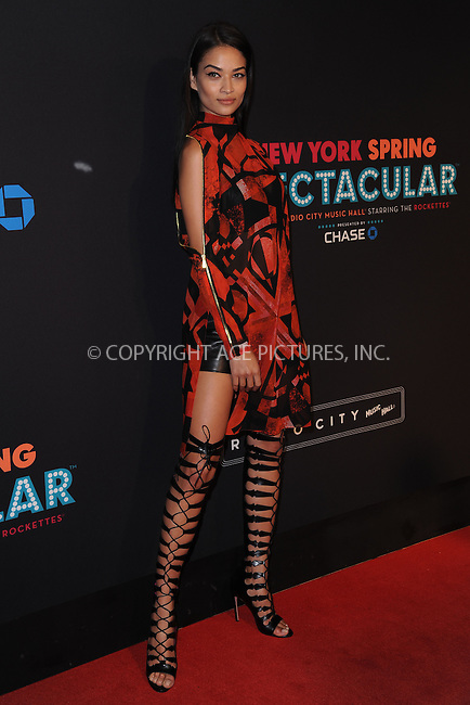 WWW.ACEPIXS.COM<br /> March 26, 2015 New York City<br /> <br /> Shanina Shaik attending the 2015 New York Spring Spectacular at Radio City Music Hall on March 26, 2015 in New York City.<br /> <br /> Please byline: Kristin Callahan/AcePictures<br /> <br /> ACEPIXS.COM<br /> <br /> Tel: (646) 769 0430<br /> e-mail: info@acepixs.com<br /> web: http://www.acepixs.com