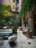 New York, New York City, Patio at the Hotel Tribeca Grand in Tribeca