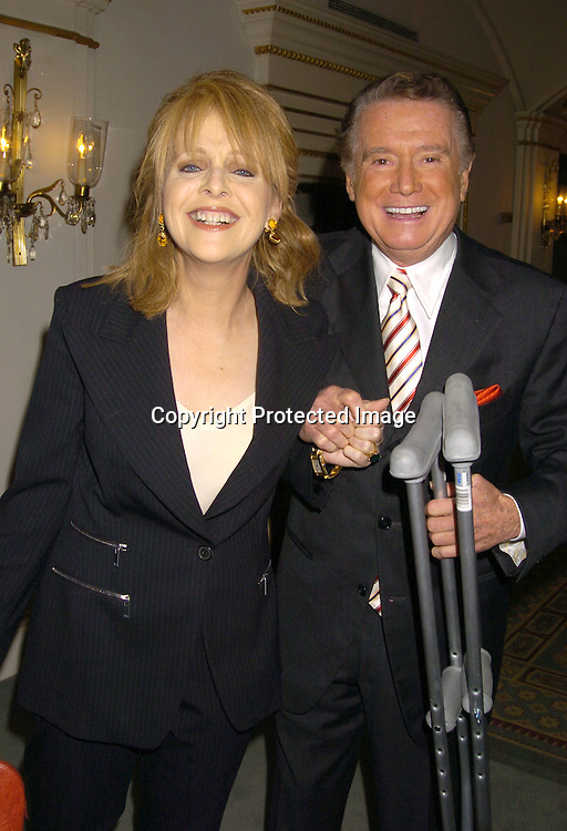 Claudia Cohen and Regis Philbin ..at the PAL 16th Annual Women of the Year Luncheon honoring Kelly Ripa, Paul Zahn and Cindi Stivers on October 26, 2004 at the Pierre Hotel. ..Photo by Robin Platzer, Twin Images