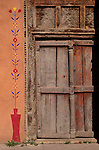 Painted door, Santa Fe, New Mexico