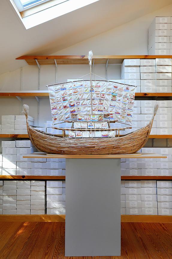 Boat artwork installation