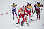 HOLMENKOLLEN, OSLO, NORWAY - March 16: (front) Mikko Kokslien of Norway (NOR) during the cross country 15 km (2 x 7.5 km) competition at the FIS Nordic Combined World Cup on March 16, 2013 in Oslo, Norway. (Photo by Dirk Markgraf)