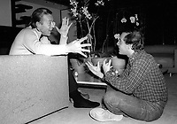 1978 FILE PHOTO<br /> New York City<br /> Studio 54 co-owner Steve Rubell & Halston<br /> Photo by Adam Scull-PHOTOlink.net