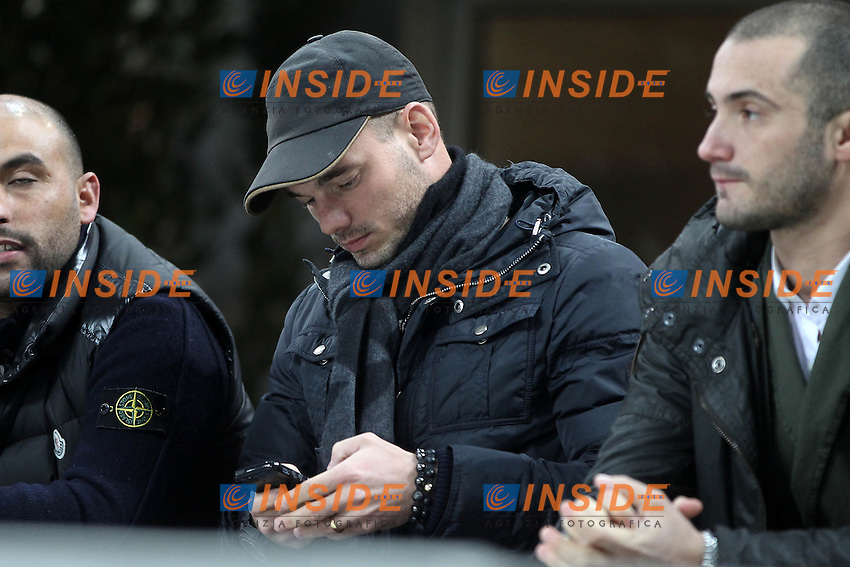 "Wesley Sneijder Inter.Milano 12/01/2013 Stadio ""San Siro"".Football Calcio Serie A 2012/13.Inter v Pescara.Foto Insidefoto Paolo Nucci."