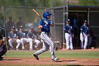 Kole Enright (78) of the Texas Rangers follows through on his swing during an Instructional League game against the San Diego Padres on September 20, 2017 at Peoria Sports Complex in Peoria, Arizona. (Zachary Lucy/Four Seam Images)