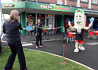 29.10.2014 The Silver Ferns vist the House of Travel and Pita Pit in Palmerston North. Mandatory Photo Credit ©Michael Bradley.