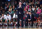 S&ouml;dert&auml;lje 2014-04-15 Basket SM-Semifinal 5 S&ouml;dert&auml;lje Kings - Uppsala Basket :  <br /> tr&auml;nare headcoach coach Vedran Bosnic ser fundersam ut<br /> (Foto: Kenta J&ouml;nsson) Nyckelord:  S&ouml;dert&auml;lje Kings SBBK Uppsala Basket SM Semifinal Semi T&auml;ljehallen portr&auml;tt portrait fundersam fundera t&auml;nka analysera