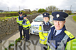 Gardai are warning people in rural areas to be vigilant after a number of break ins during mass times , from left: Gardai Tim O'Donovan, Michelle Cremin, Danielle O'Connell and Sergeant Ken O'Sullivan.