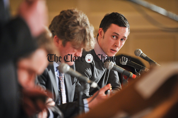 at the Burning Issues debate hosted by The Clare Champion at The Old Ground Hoitel, Ennis. Photograph by John Kelly.