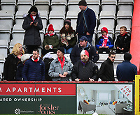 Lincoln City fans enjoy the pre-match atmosphere<br /> <br /> Photographer Andrew Vaughan/CameraSport<br /> <br /> The EFL Sky Bet League Two - Stevenage v Lincoln City - Saturday 8th December 2018 - The Lamex Stadium - Stevenage<br /> <br /> World Copyright © 2018 CameraSport. All rights reserved. 43 Linden Ave. Countesthorpe. Leicester. England. LE8 5PG - Tel: +44 (0) 116 277 4147 - admin@camerasport.com - www.camerasport.com