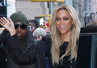 NEW YORK, NY - JANUARY 9: Tyra Banks at Build Series promoting the new season of America's Next Top Model in New York City on January 9, 2018. <br /> CAP/MPI/RW<br /> &copy;RW/MPI/Capital Pictures