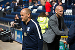 Home manager Alex Neil (left) and his counterpart Jaap Star pictured before Preston North End take on Reading in an EFL Championship match at Deepdale. The home team won the match 1-0, Jordan Hughill scoring the only goal after 22nd minutes, watched by a crowd of 11,174. Photo by Colin McPherson.
