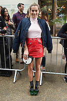 Chelsea Leyland<br /> arrives for the TopShop UNIQUE catwalk show as part of London Fashion Week SS17, Old Spitalfields Market, London<br /> <br /> <br /> &copy;Ash Knotek  D3155  17/09/2016