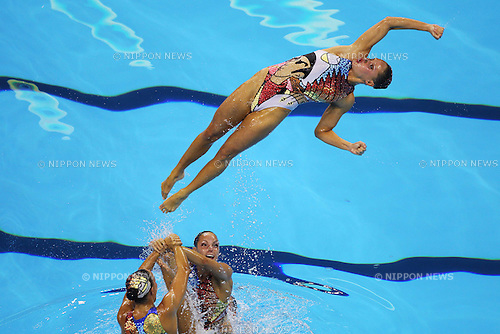 Canada National Team Group (CAN), ..July 23, 2011 - Synchronised Swimming : ..14th FINA World Championships Shanghai 2011, Team Free Routine Final ..at Oriental Sports Center Indoor Stadium, Shanghai, China. ..(Photo by Daiju Kitamura/AFLO SPORT) [1045]