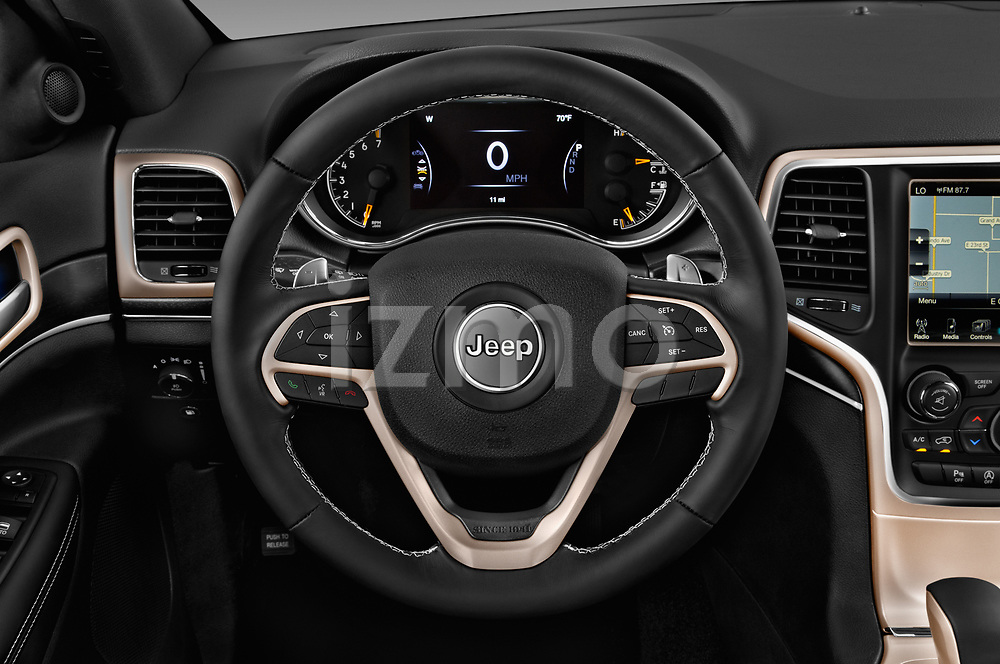 Car pictures of steering wheel view of a 2017 JEEP Grand-Cherokee Limited 5 Door SUV Steering Wheel