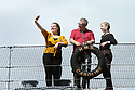 Rudy Wallace, Billy Hughes and Lisa Hannon do a selfie while on bord HMS Caroline, Wednesday July 3rd, 2019. (Photo by Paul McErlane for the Belfast Telegraph)