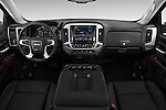 Stock photo of straight dashboard view of 2017 GMC Sierra-1500 Crew-Cab-Short-Box-SLT 4 Door Pickup Dashboard