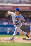 23 June 2013: Los Angeles Dodgers pitcher Brandon League on the mound against the San Diego Padres at Petco Park in San Diego, California. The Dodgers defeated the Padres 3-1, splitting their 4-game Divisional Series at 2-2. Mandatory Credit: Ed Wolfstein Photo *** RAW (NEF) Image File Available ***