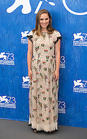 Natalie Portman at the photocall for Jackie at the 2016 Venice Film Festival.<br /> September 7, 2016  Venice, Italy<br /> CAP/KA<br /> &copy;Kristina Afanasyeva/Capital Pictures /MediaPunch ***NORTH AND SOUTH AMERICAS ONLY***